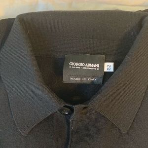 Giorgio Armani Black Long Sleeve Wool Shirt
